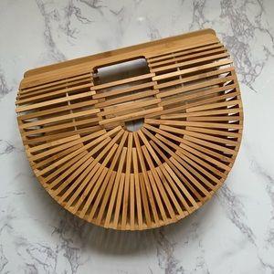 Handbags - Bamboo Cage Basket Top Handle Bag